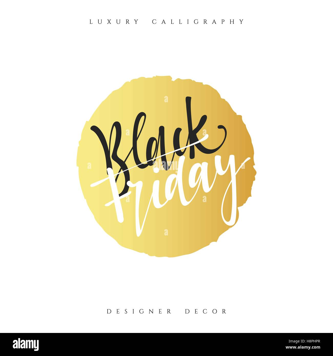 Poster design handmade - Inscription Black Friday Calligraphic Handmade Advertising Poster Design Sale Discount Banners Labels