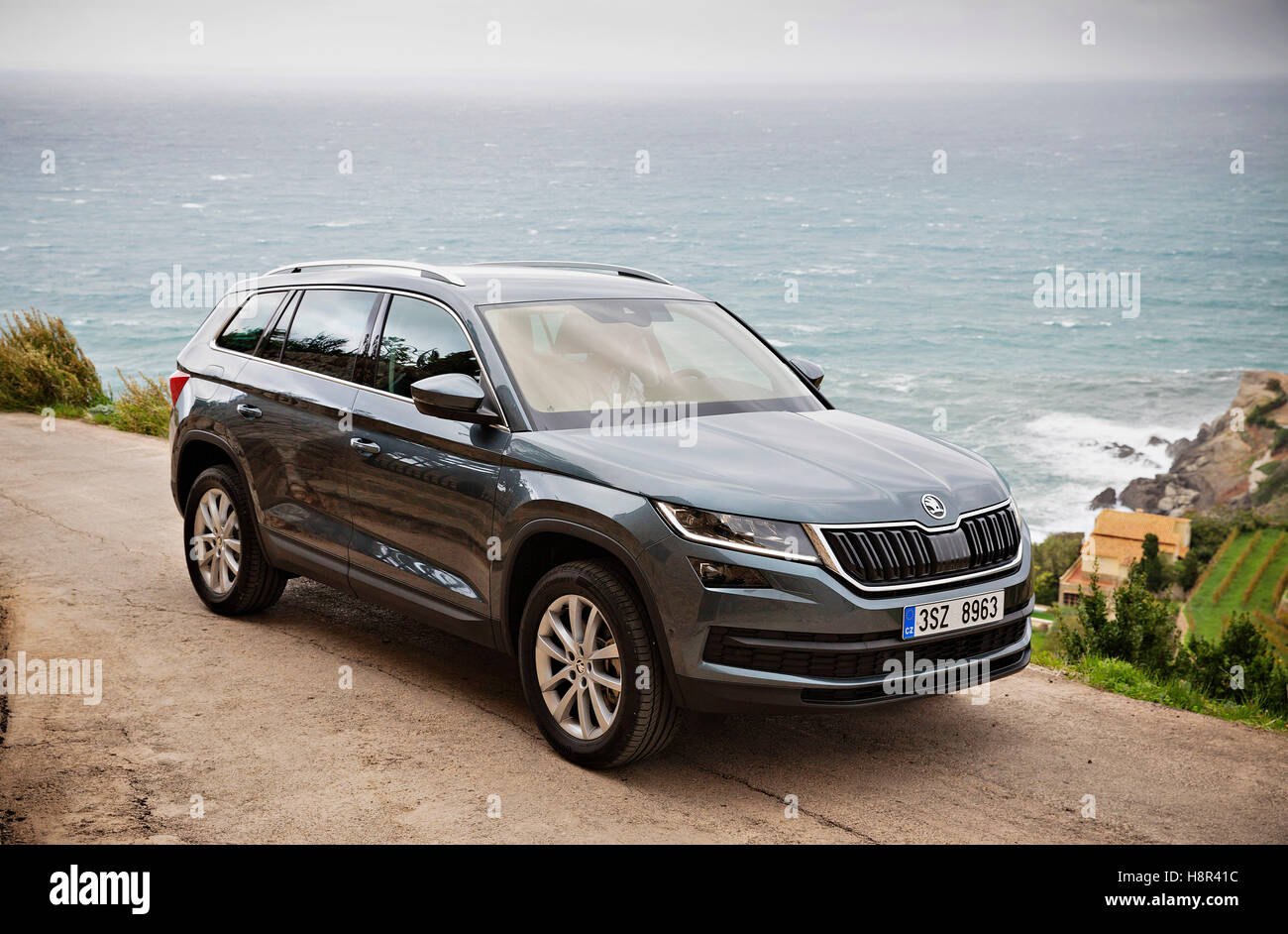 palma de mallorca spain 15th nov 2016 new suv skoda kodiaq was stock photo royalty free. Black Bedroom Furniture Sets. Home Design Ideas