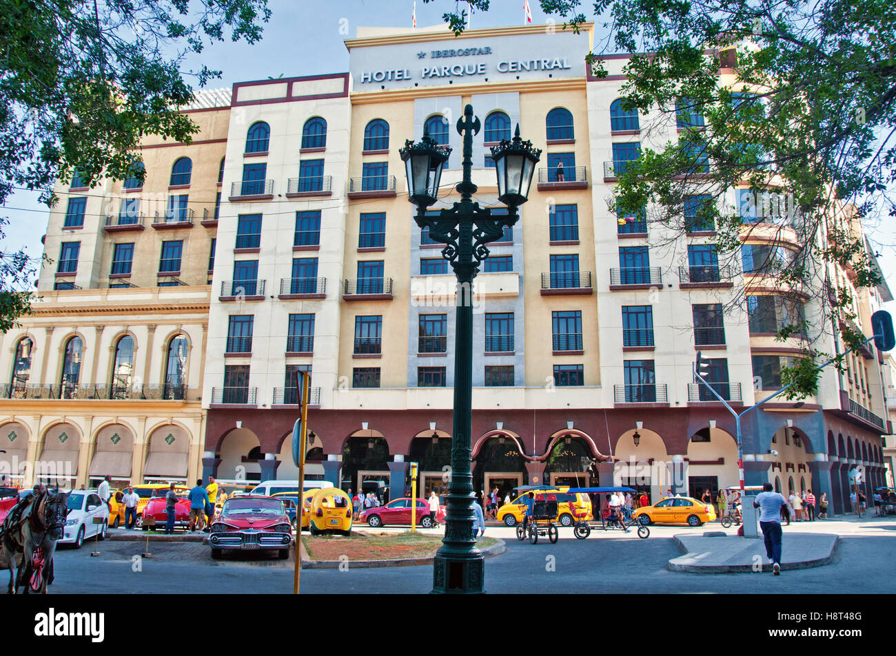 Havana cuba july 11 2016 the luxurious hotel central park restored in 1995 near central park in havana cuba