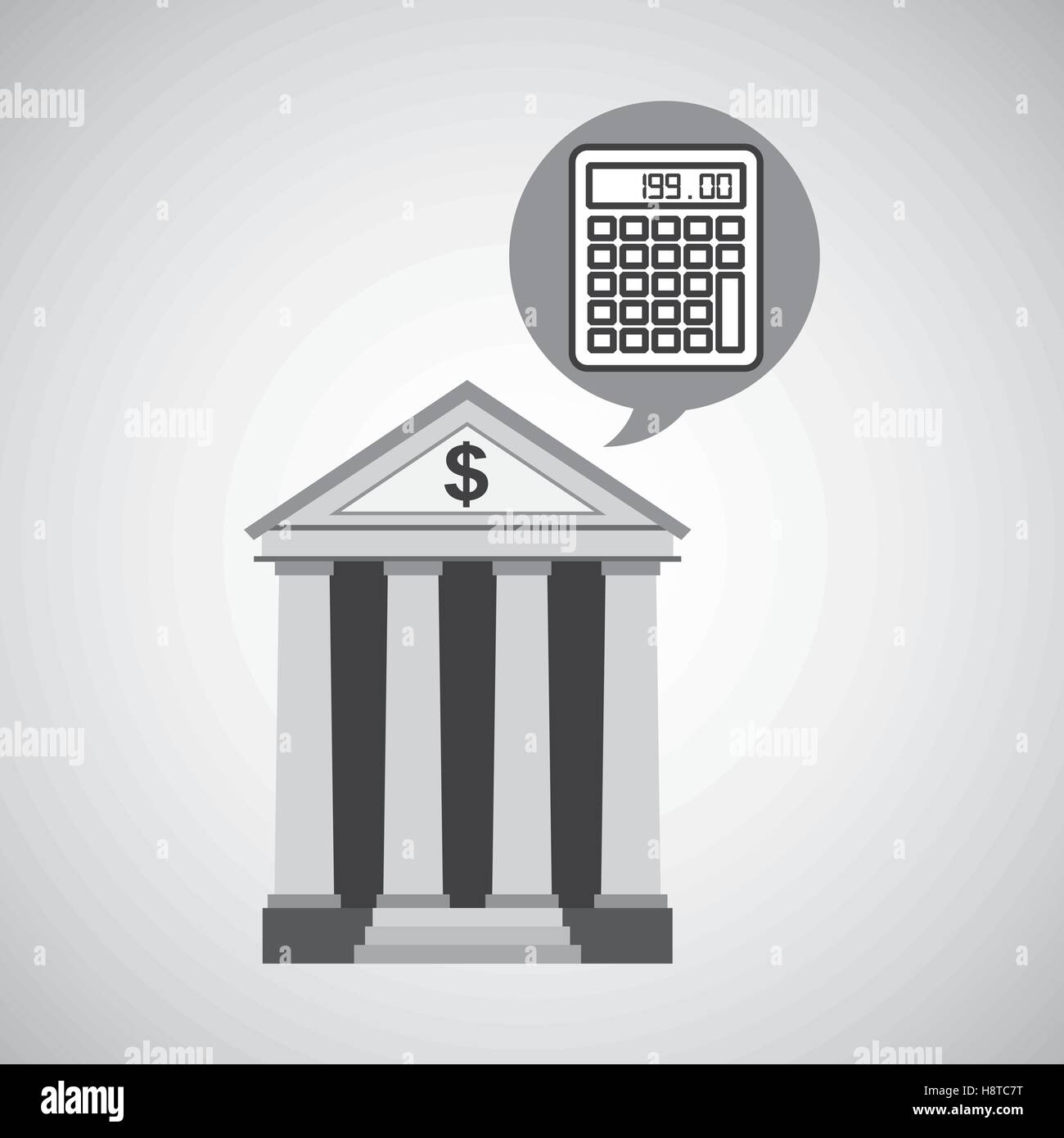 Building bank economy calculator money vector illustration for House build calculator