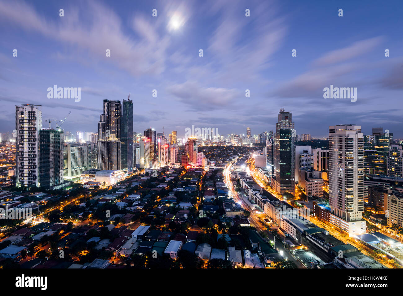 Makati skyline at night makati is a city in the philippines makati is a city in the philippines metro manila region and the countrys financial hub sciox Image collections