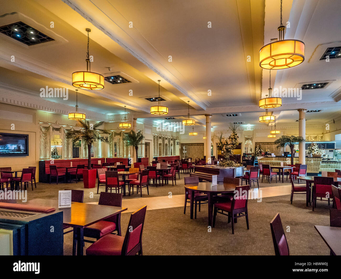 the mazzei cafe winter gardens blackpool lancashire uk stock