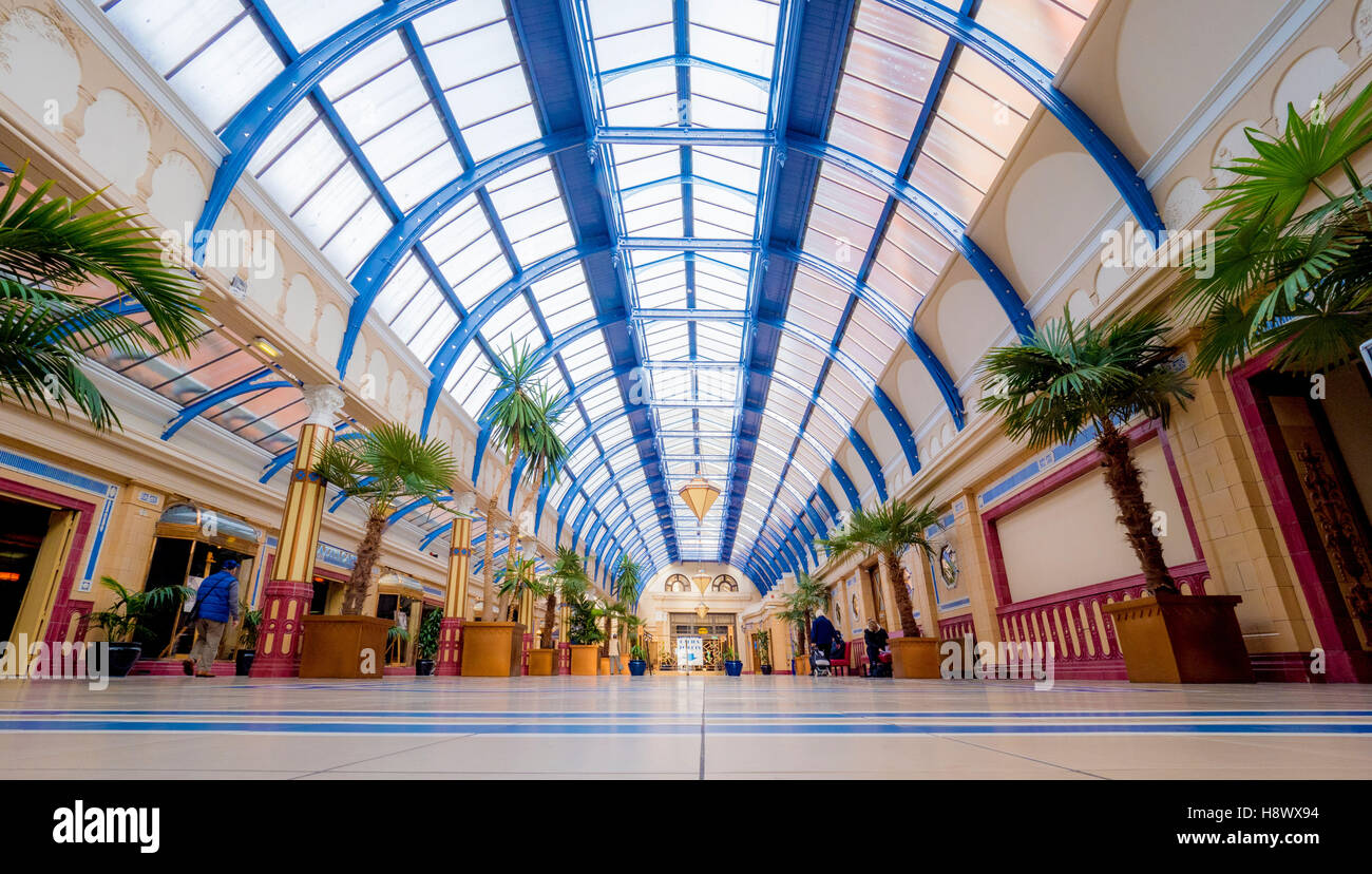 the floral hall winter gardens blackpool lancashire uk stock