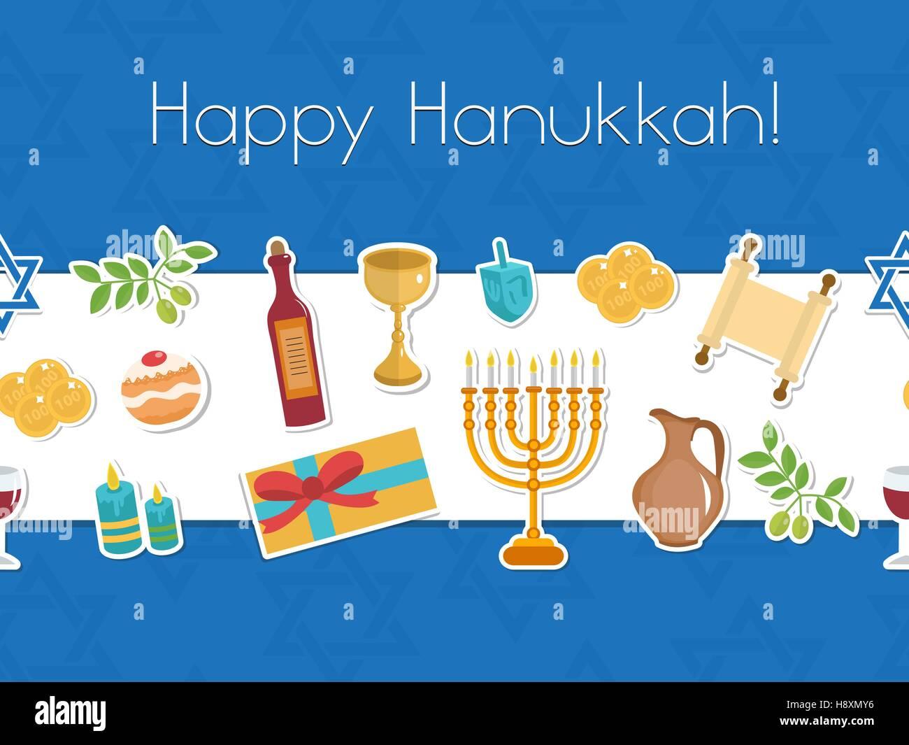 Happy hanukkah seamless poster greeting card flyer invitation happy hanukkah seamless poster greeting card flyer invitation m4hsunfo