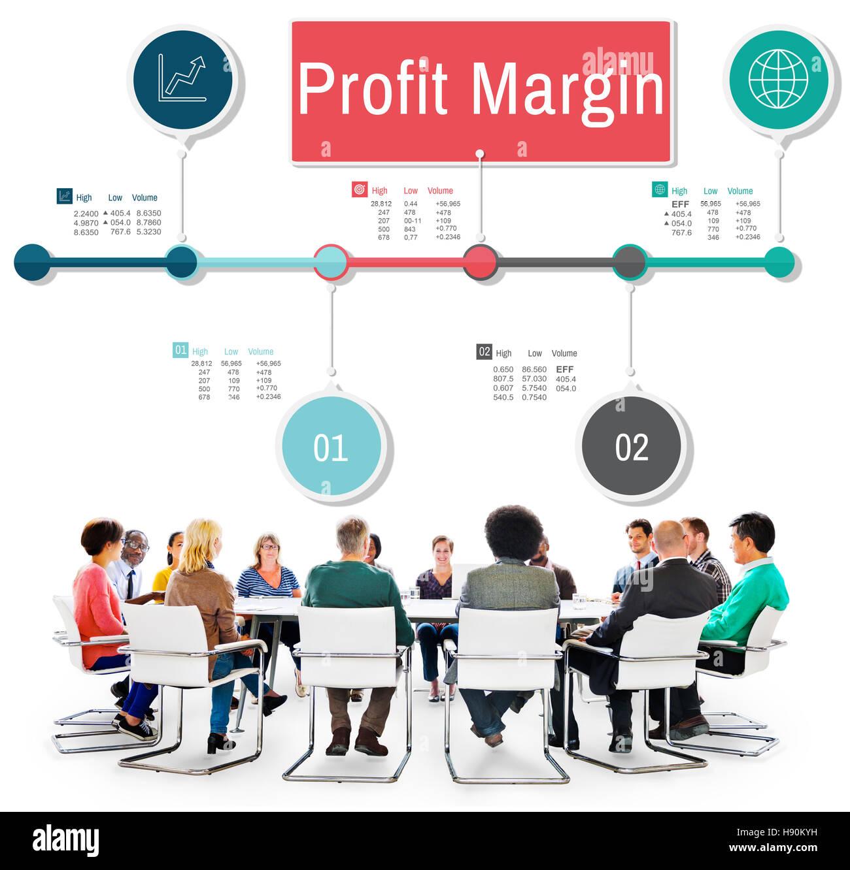 Margin Pricing: Profit Margin Finance Income Revenue Costs Sales Concept