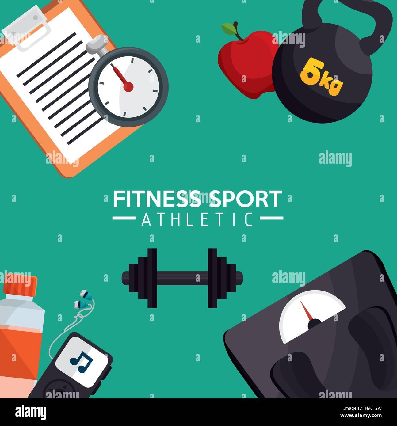 Poster design eps - Stock Vector Fitness Sport Athletic Poster Design Vector Illustration Eps 10