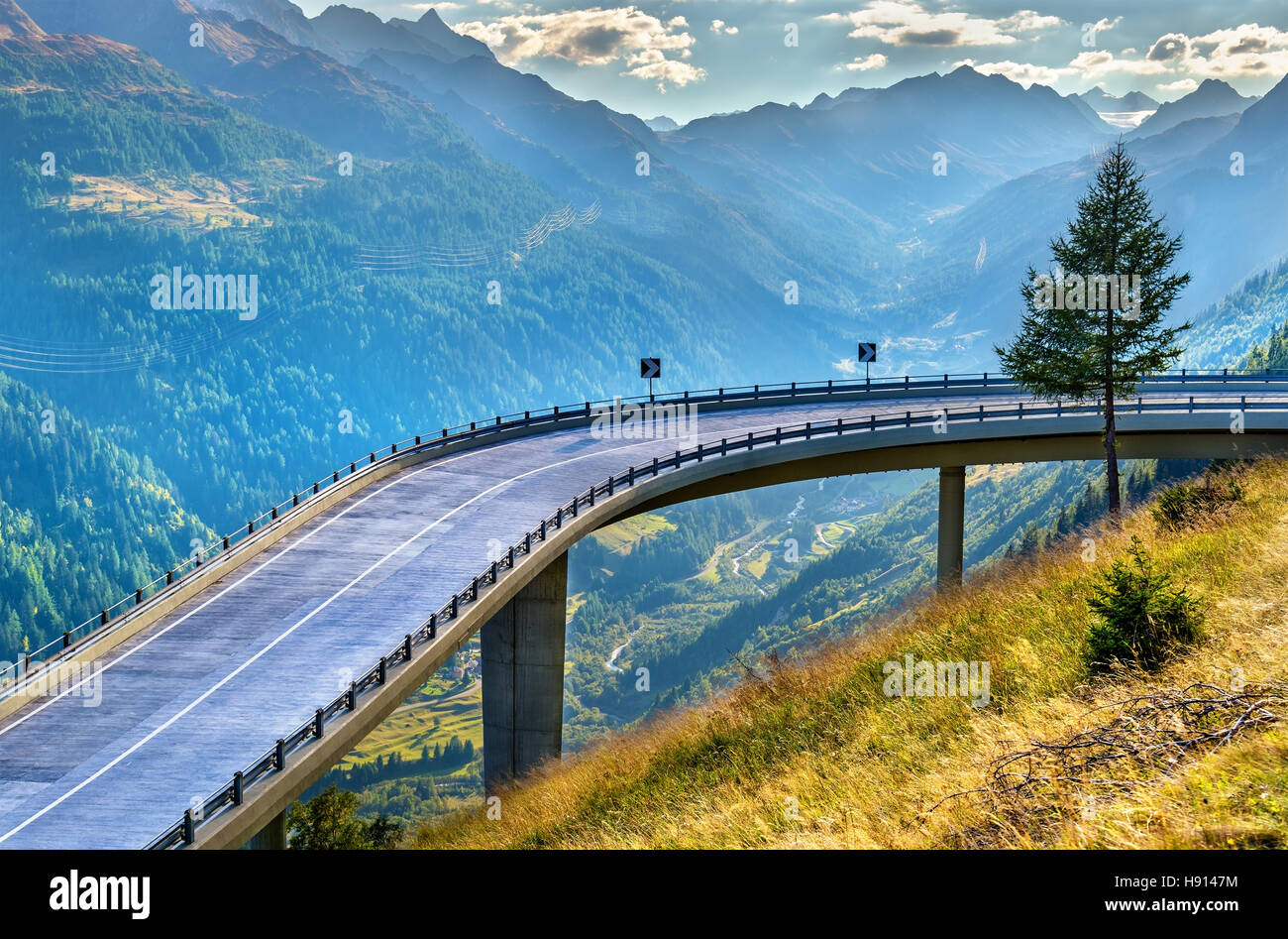 serpentine road to the st gotthard pass in the swiss alps. Black Bedroom Furniture Sets. Home Design Ideas