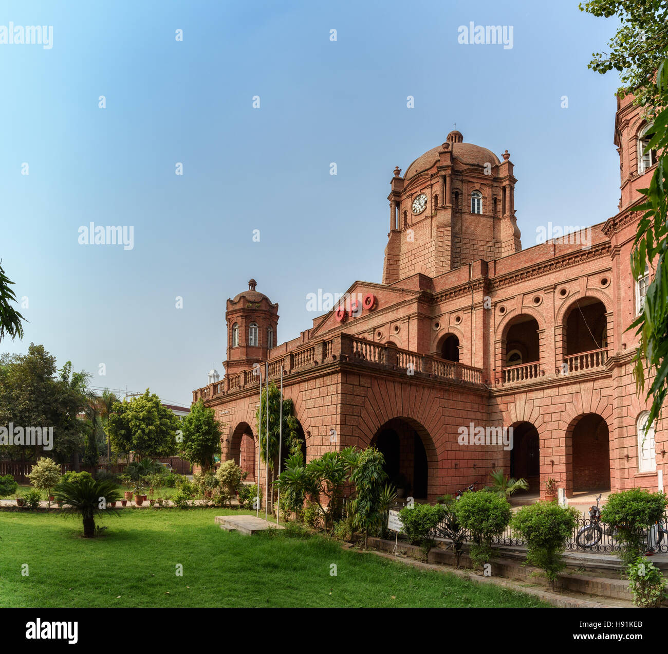 The general post office is the main post office in lahore pakistan located at