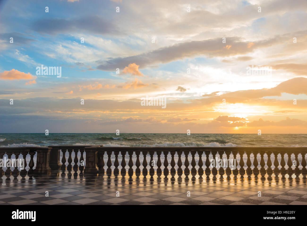 Terrazza Mascagni a Livorno at sunset Stock Photo: 126050371 - Alamy