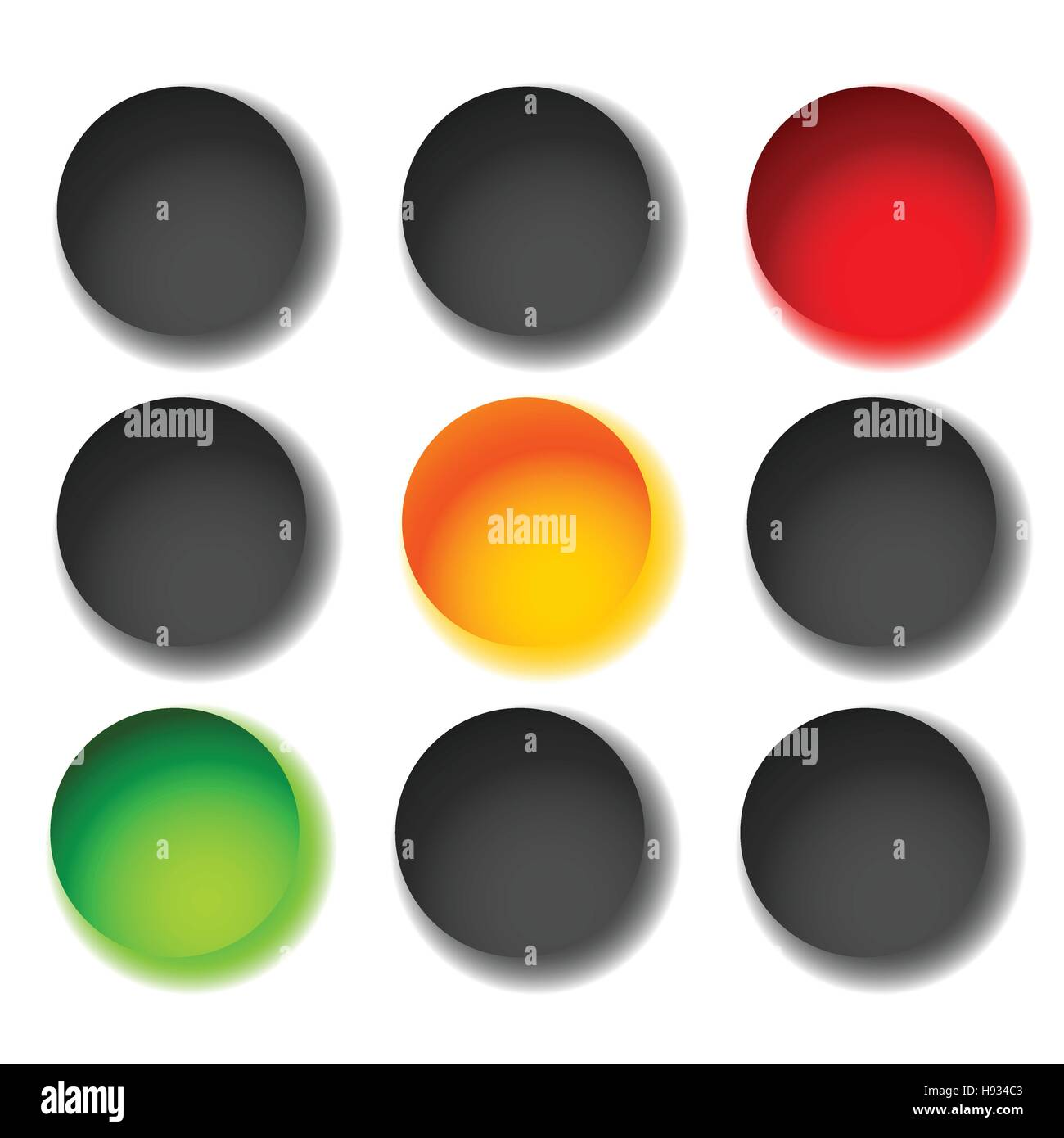 Traffic light icons isolated on white. Green, yellow, red light ... for Traffic Light Yellow Icon  585ifm