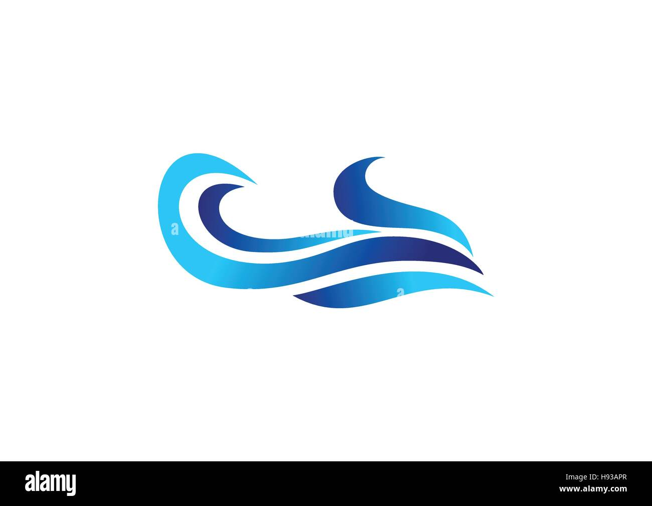 Blue Waves Logo Concept Abstract Blue Water Waves Symbol