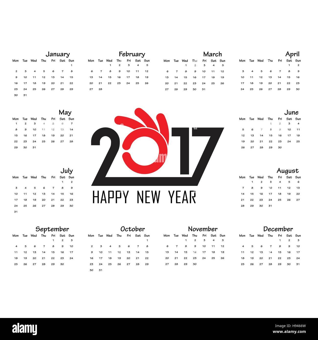 2017 template calendar