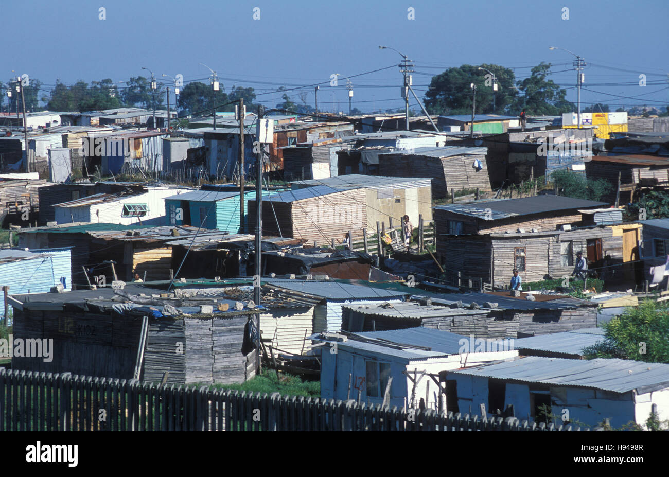 Huts in the township nyanga poverty cape town south for Outdoor photo south africa
