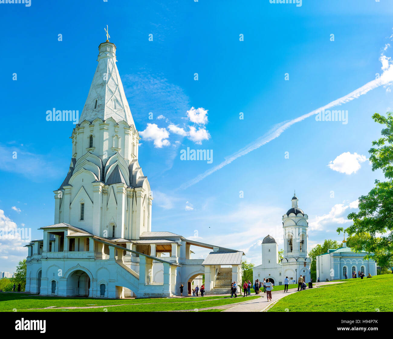 The view on Ascension Church in Kolomenskoye one of the first tent-roof stone churches in Russia & The view on Ascension Church in Kolomenskoye one of the first ...