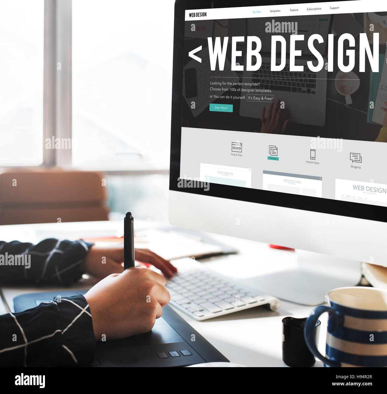 Web design internet website responsive software concept stock photo web design internet website responsive software concept solutioingenieria Gallery