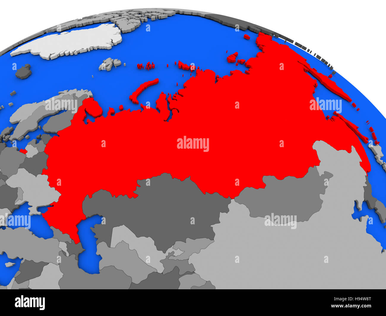 Map of russia highlighted in red on a globe 3d illustration stock map of russia highlighted in red on a globe 3d illustration gumiabroncs Images