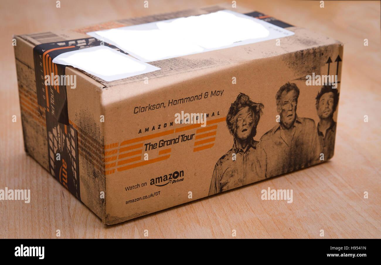 leeds uk 18 november 2016 amazon delivery packaging. Black Bedroom Furniture Sets. Home Design Ideas