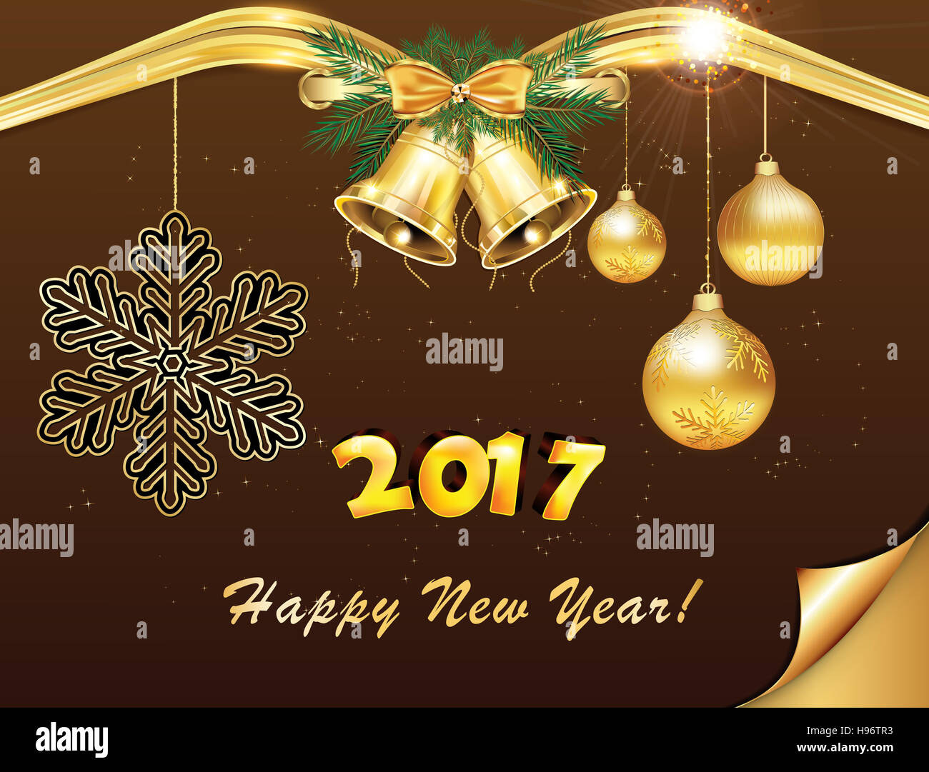 Elegant christmas and new year 2017 background greeting card elegant christmas and new year 2017 background greeting card print colors used kristyandbryce Choice Image