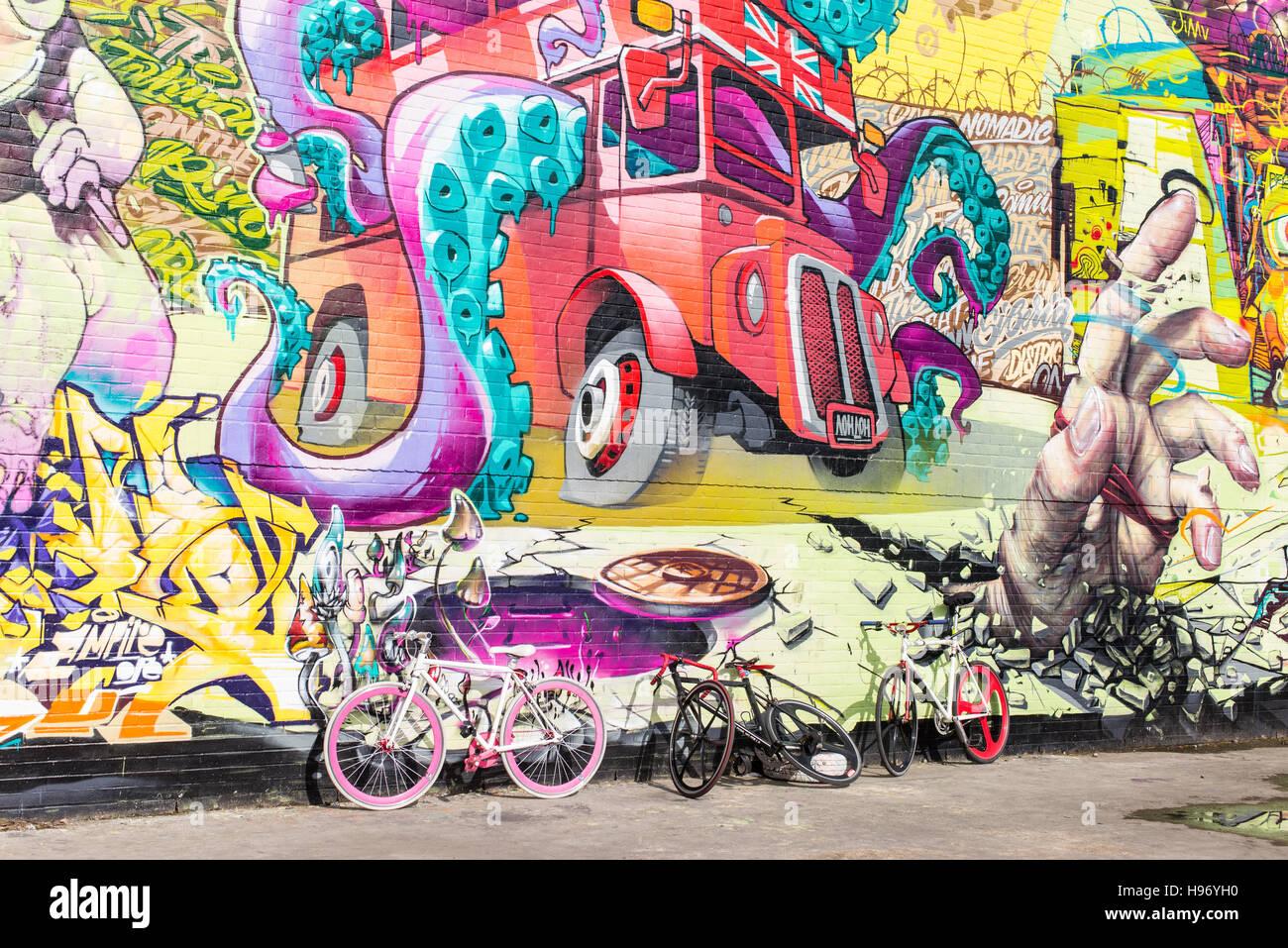 Ferrari Wall Mural Big Wall With Huge Mural Graffiti In The Nomadic Community