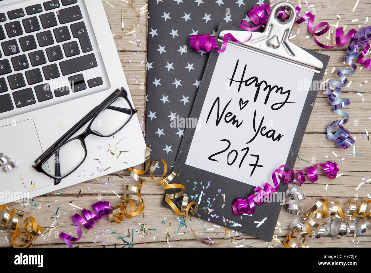 New Years Eve Business Card Stock Photo, Royalty Free Image ...