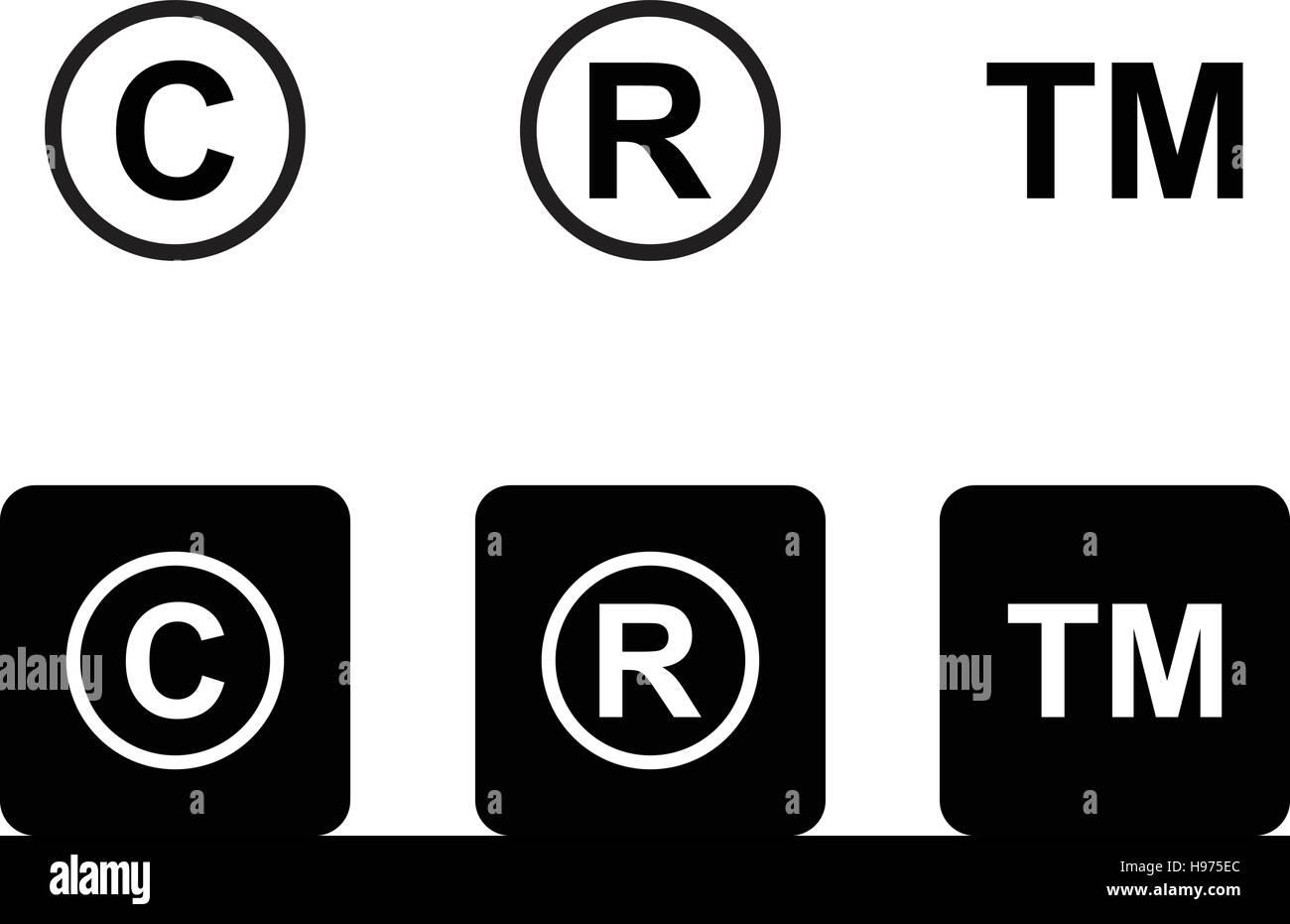 Copyright trademark icons set stock vector art illustration copyright trademark icons set buycottarizona Choice Image