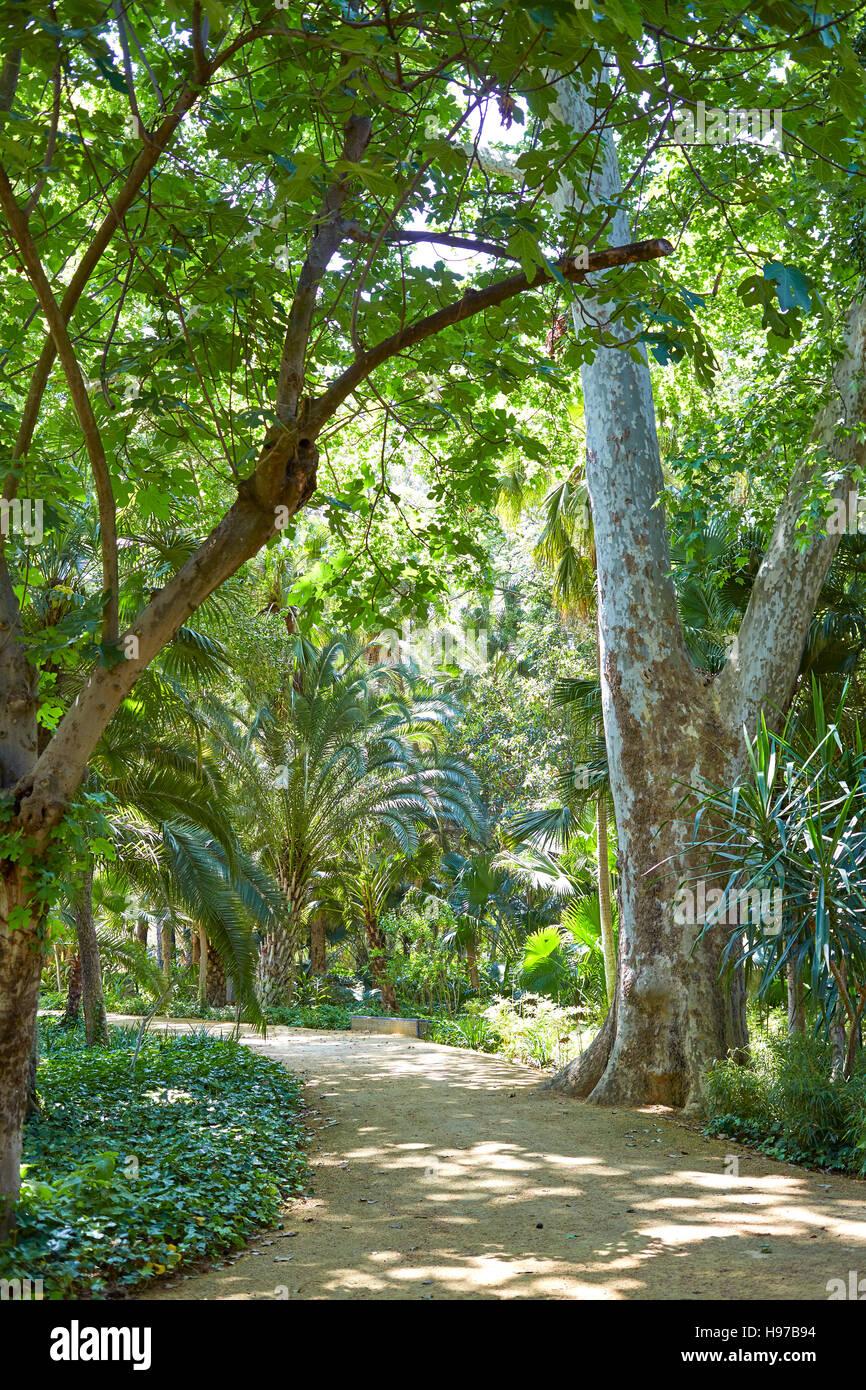 Gardens By Maria: Seville Maria Luisa Park Gardens In Andalucia Spain Stock
