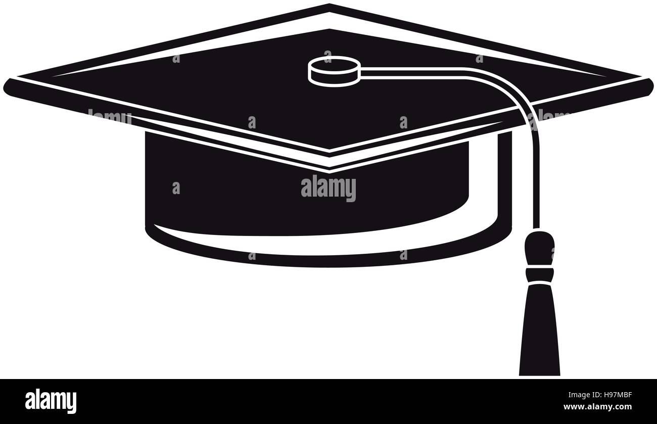 Graduation cap vector silhouette