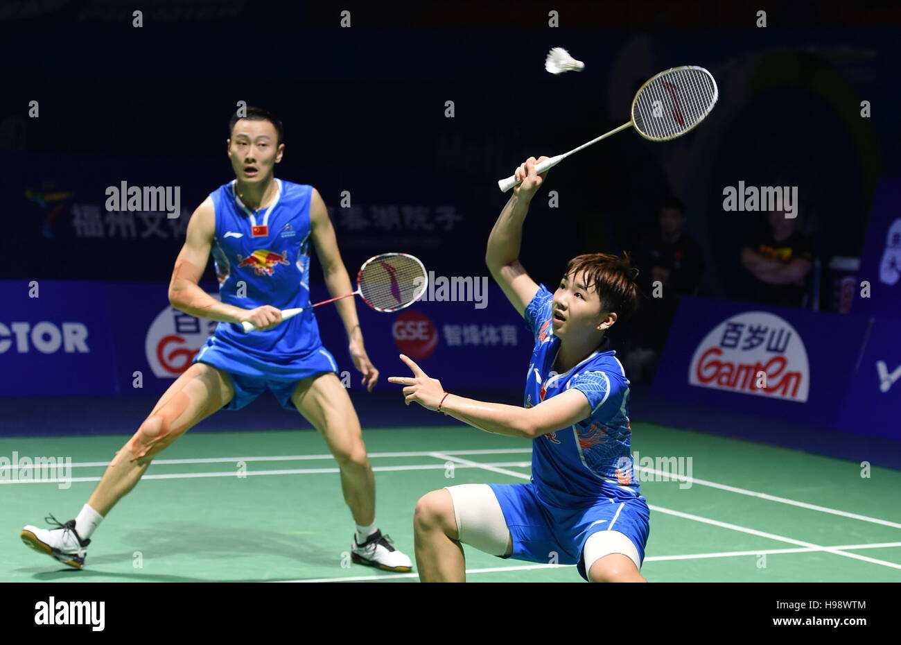 Fuzhou 20th Nov 2016 Zhang Nan L Li Yinhui of China pete