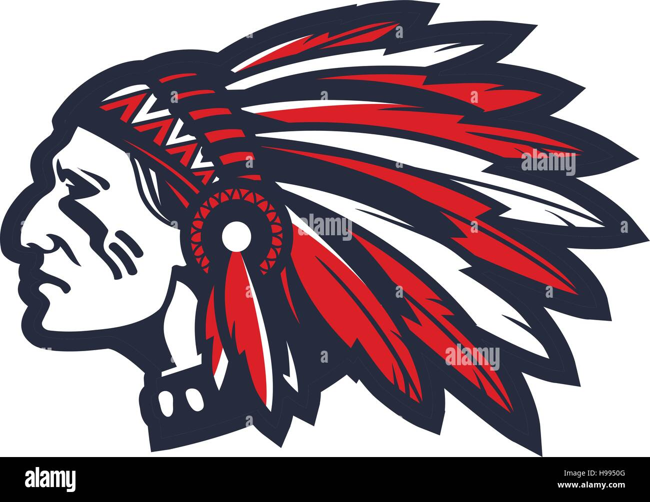 american indian chief vector logo or icon stock vector art indian chief logo 1903 indian chief logan