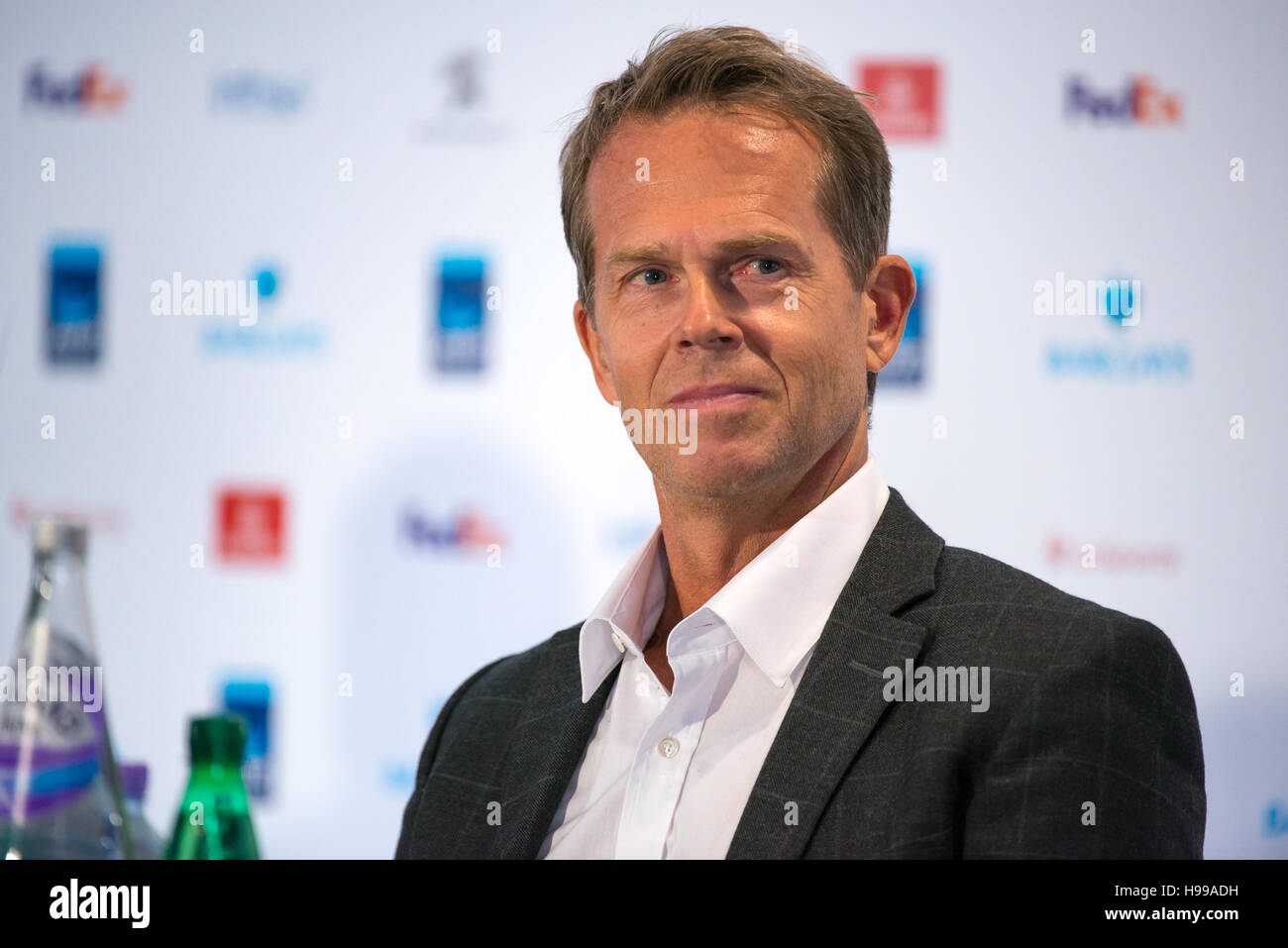 London UK 19th Nov 2016 Stefan Edberg at the conference to