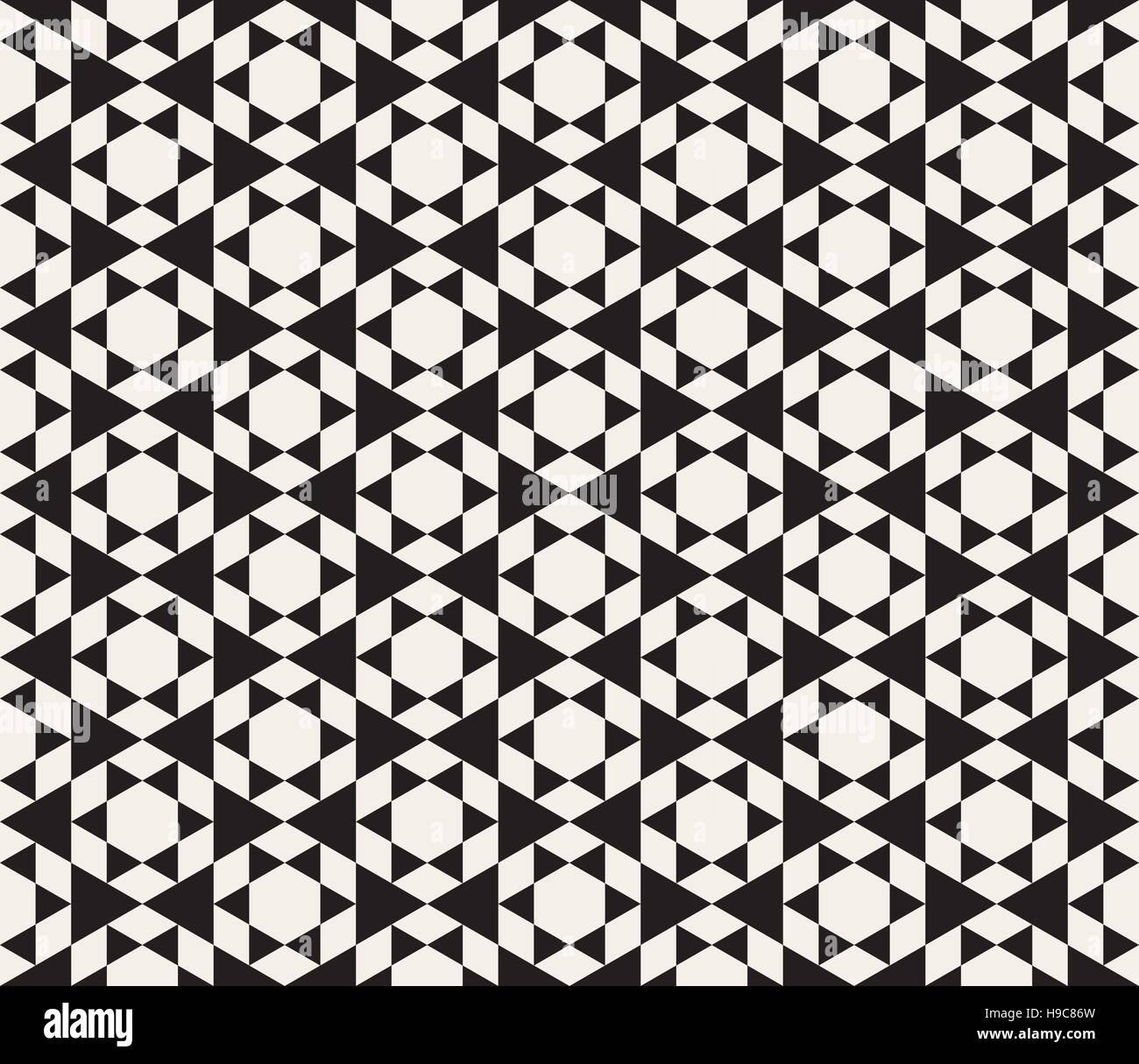 Vector Seamless Black And White Triangle Tessellation Pattern ...