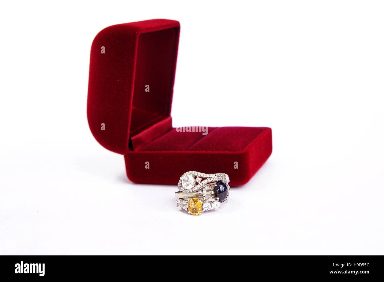 Rings jewelry is popular with the girls a symbol of love and the rings jewelry is popular with the girls a symbol of love and the belief that the prosperity of the wearer the rings on white background biocorpaavc Images