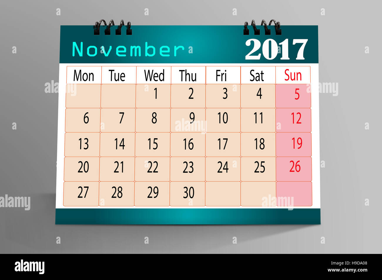 Desktop Calendar Design-November 2017 Stock Photo, Royalty Free ...
