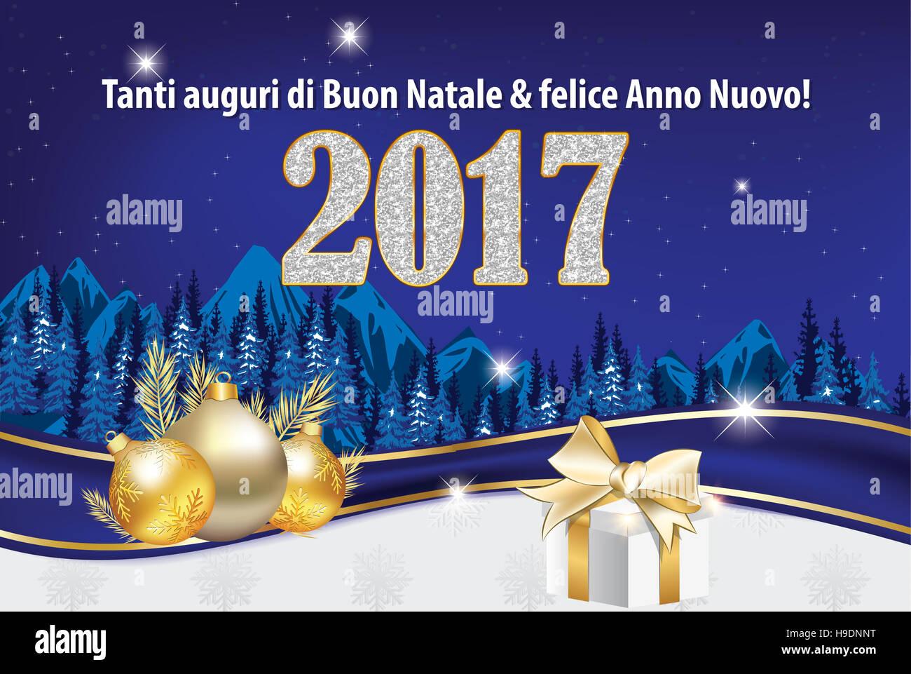 Molto Tanti auguri di Buon Natale & felice Anno Nuovo! - Biglietto Stock  ZJ56