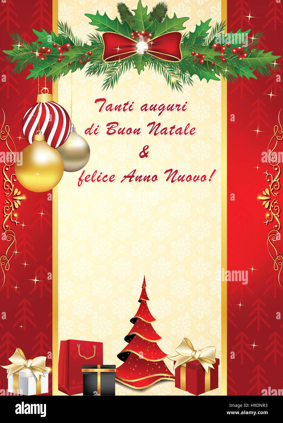 spesso Tanti auguri di Buon Natale & felice Anno Nuovo! - Biglietto Stock  XH93