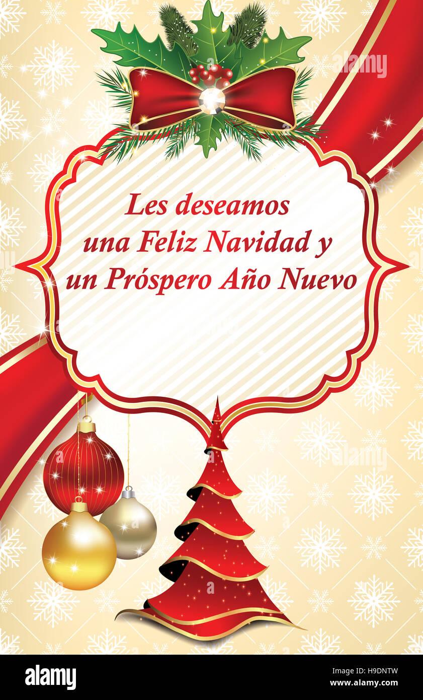 Les deseamos feliz navidad y feliz a o nuevo tarjeta de - Tarjetas felicitacion navidad ...