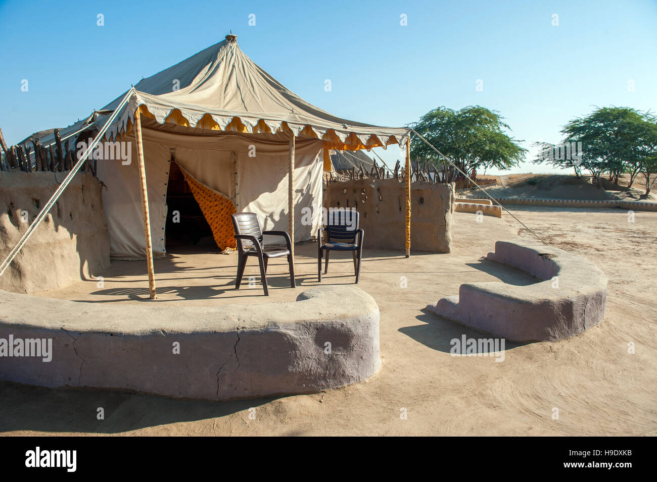 A tent at Shaam E Sarhad Village Resort an agro-tourism project set up by Indiau0027s Ministry of Tourism and the UNDP in Kutch Gujarat. & A tent at Shaam E Sarhad Village Resort an agro-tourism project ...