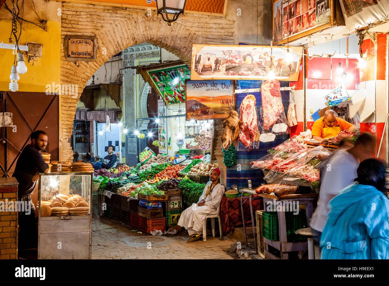 food shops in the medina fez el bali fez morocco