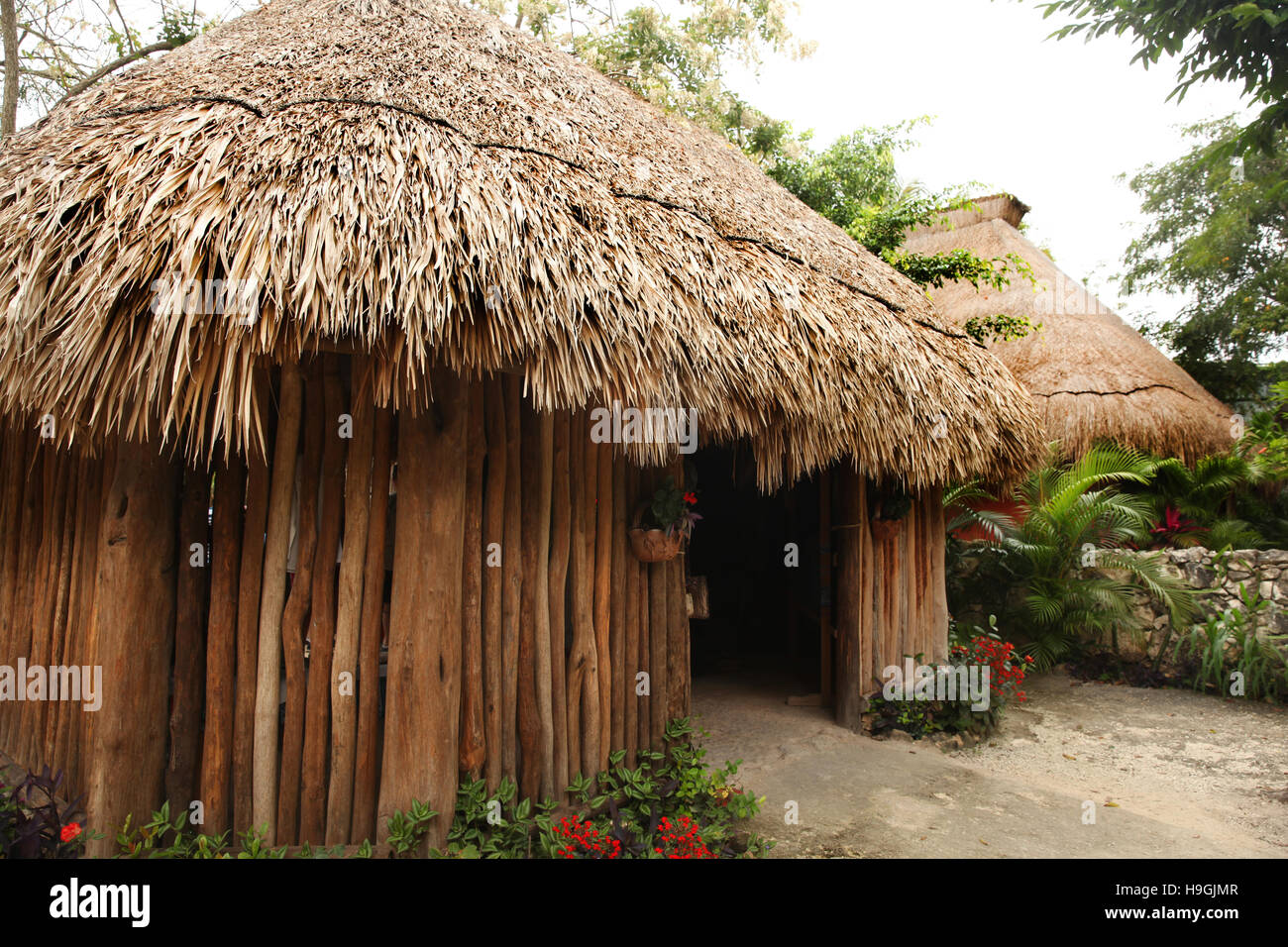 Stock Photo   Traditional Hut Or Home Made From Natural Materials U0026 Thatched  Roof, Cozumel, Yucatan Peninsula, Quintana Roo, Mexico