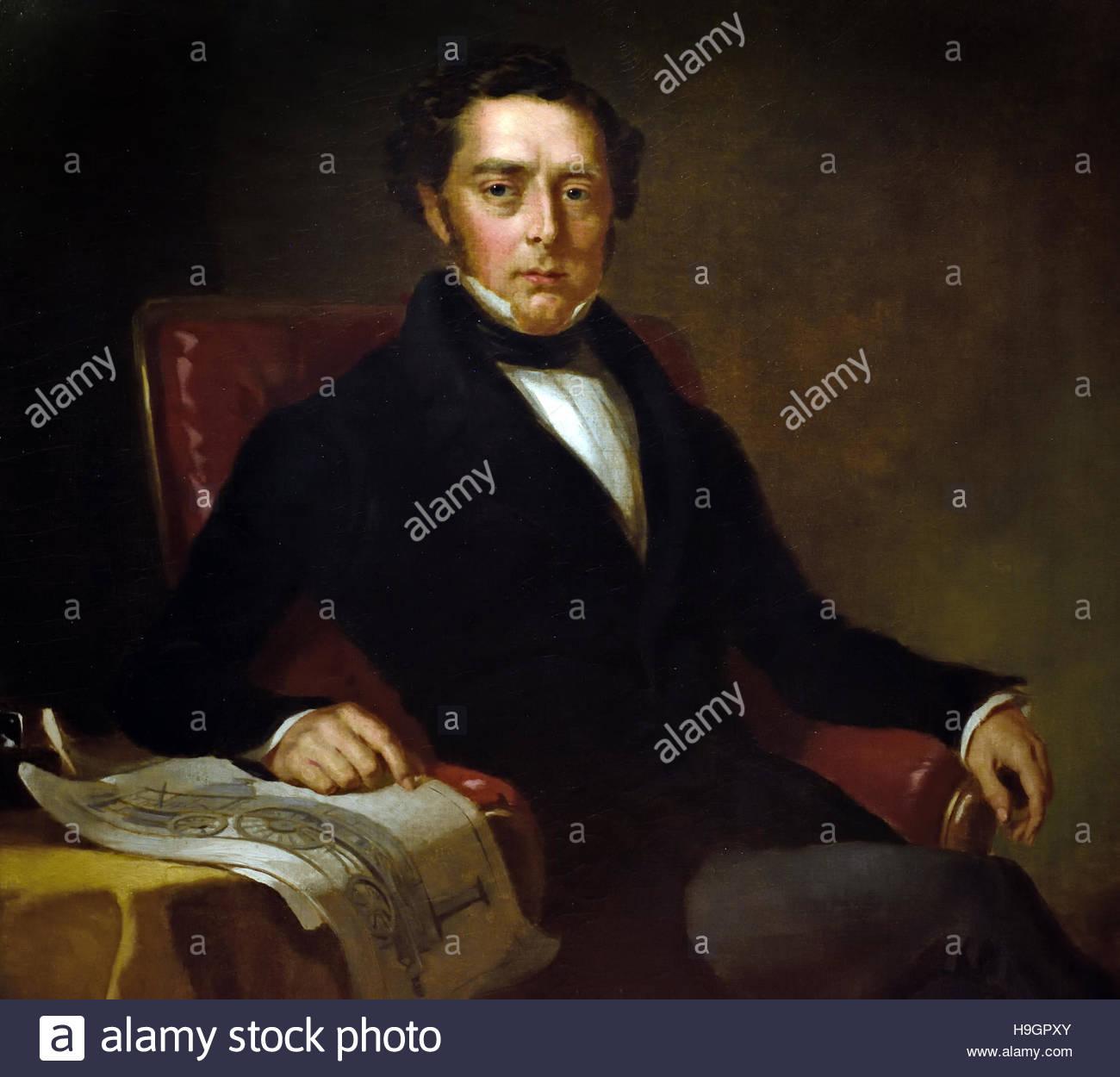 Robert Stephenson 1803 1859 Civil engineer by John Lucas Stock