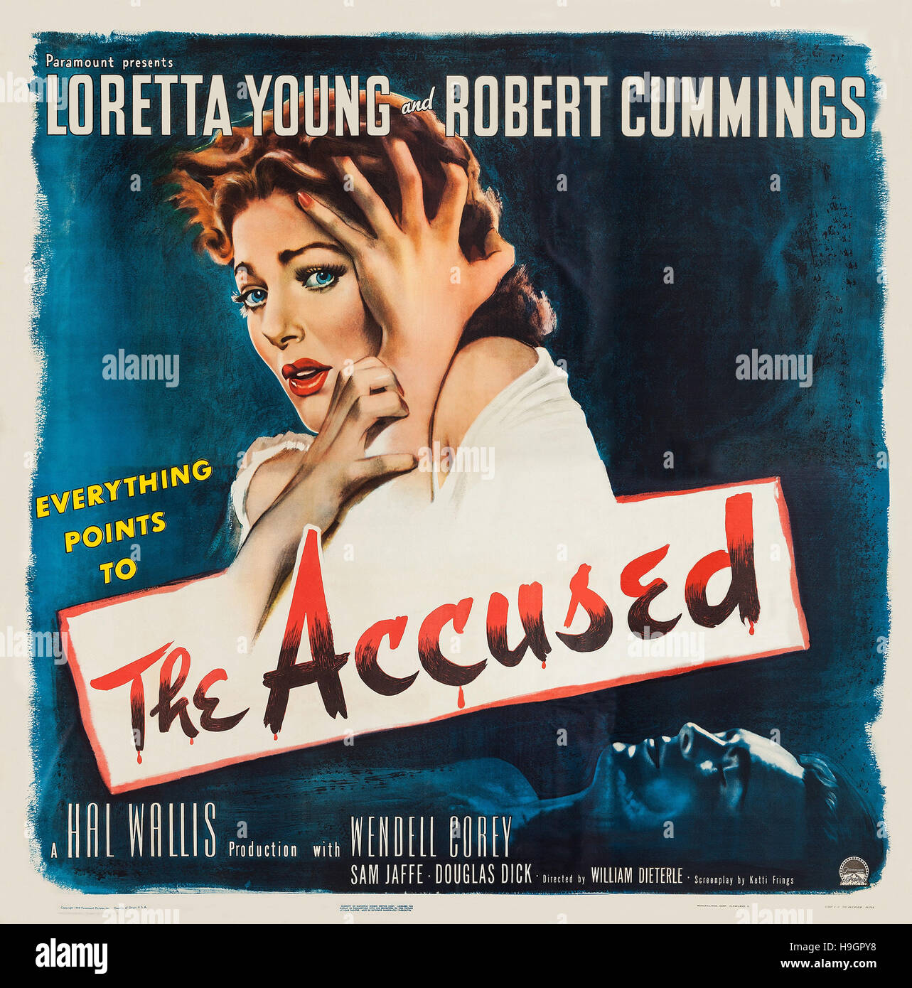 the accused 1949 paramount pictures film loretta young stock stock photo the accused 1949 paramount pictures film loretta young