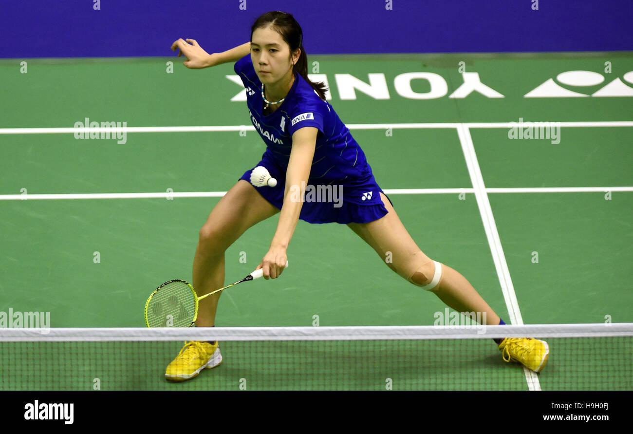 Hong Kong China 23rd Nov 2016 Aya Ohori of Japan returns the