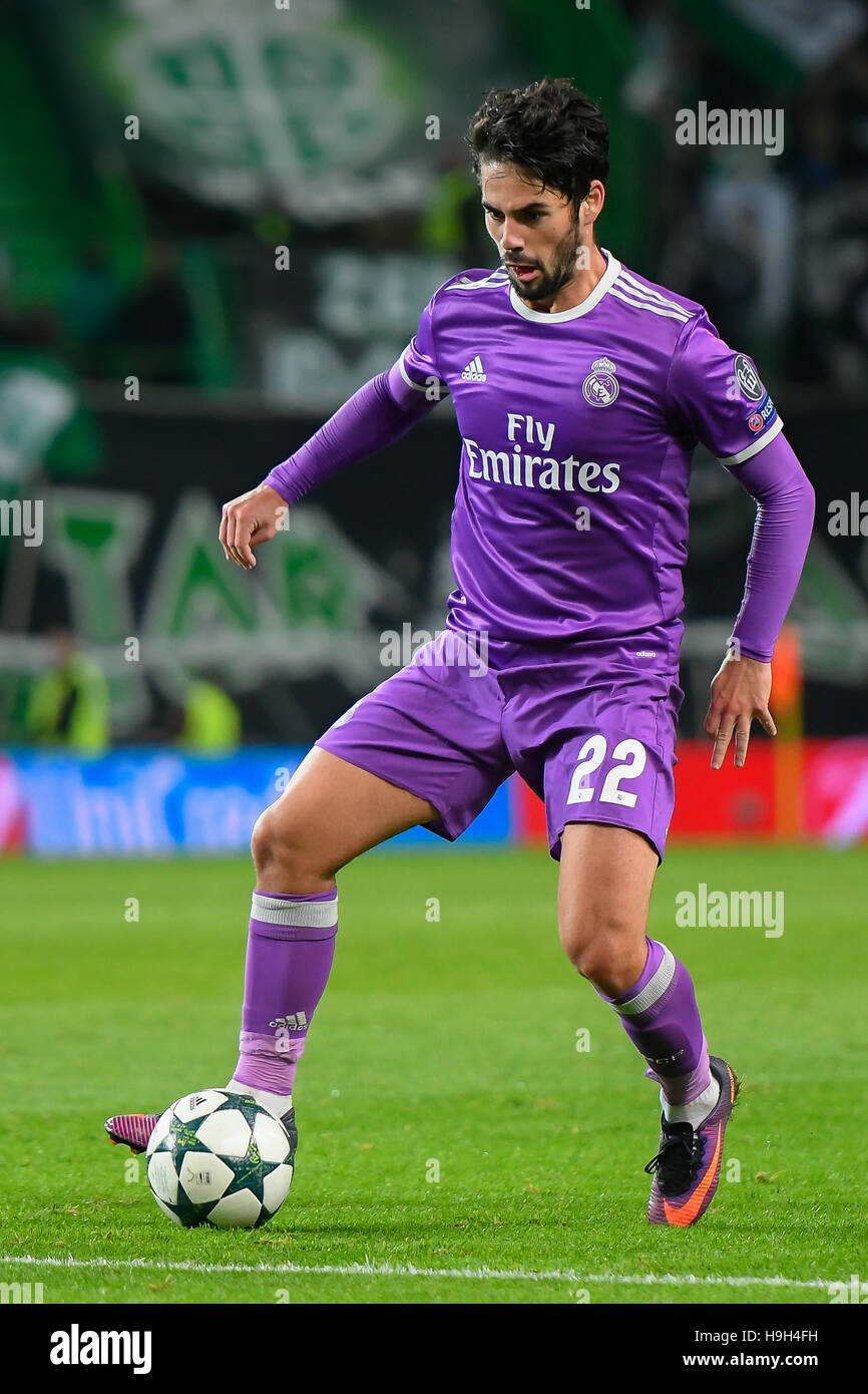 Lisbon Portugal 22nd November 2016 SPORTING REAL MADRID Isco