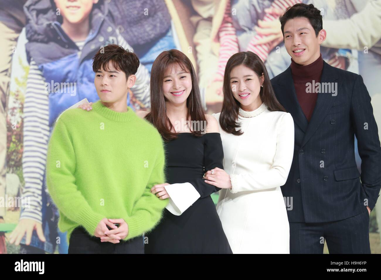 Seoul Korea 23rd Nov 2016 Pae SeulKi Lee Young Eun Kim Dong