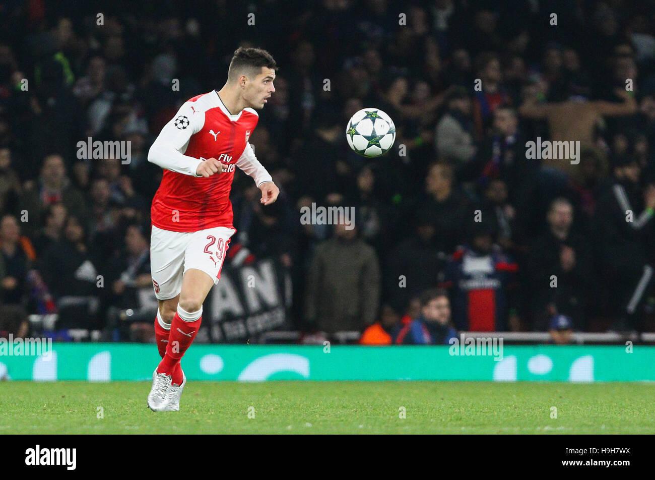 Emirates Stadium London UK 23rd Nov 2016 Granit Xhaka of