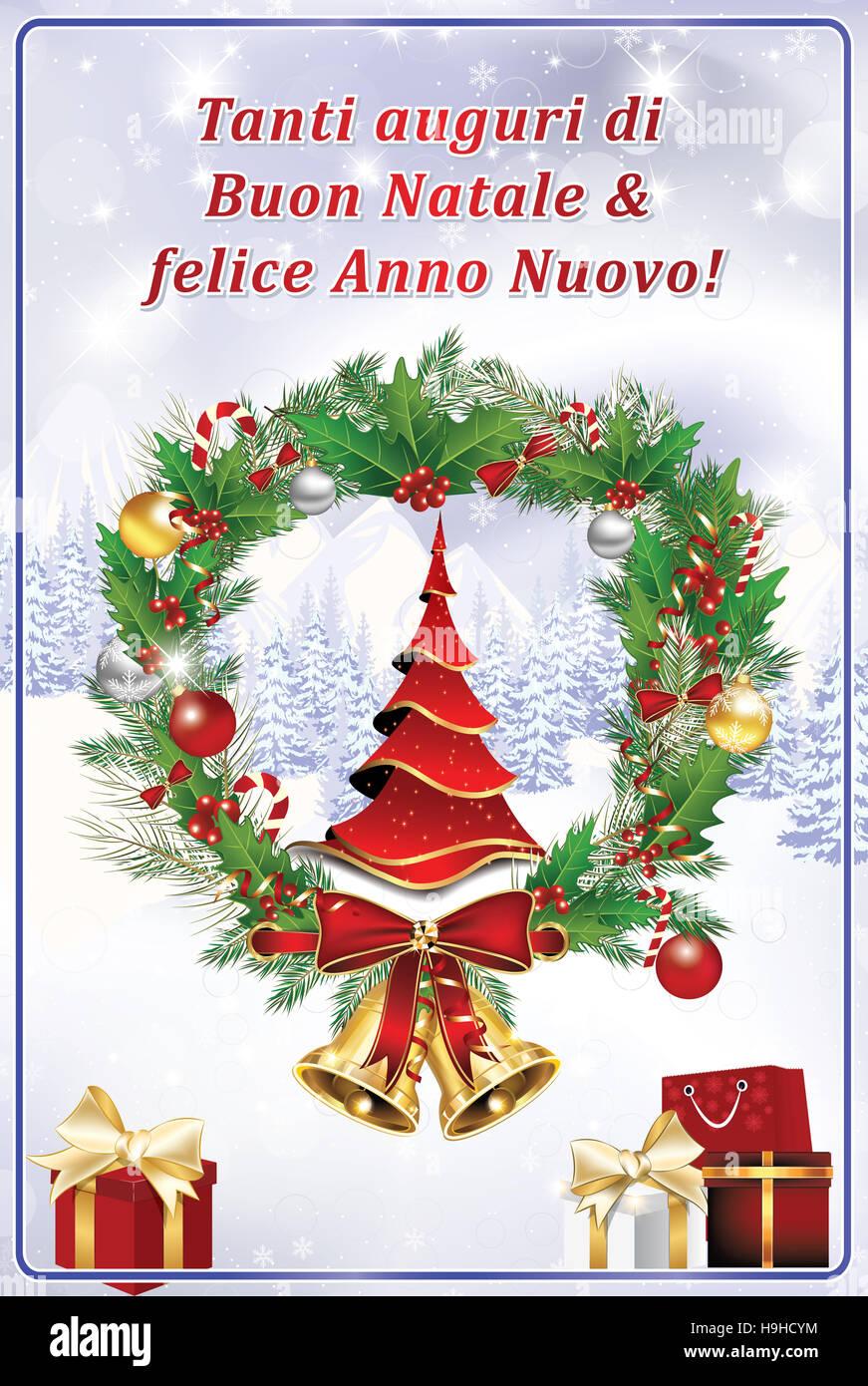 abbastanza Tanti auguri di Buon Natale & felice Anno Nuovo! - Biglietto Stock  KP66