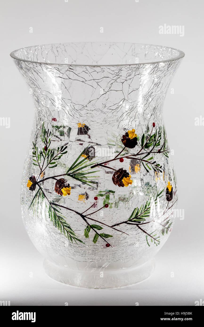 Branches and acorns on cracked glass vase stock photo royalty branches and acorns on cracked glass vase reviewsmspy