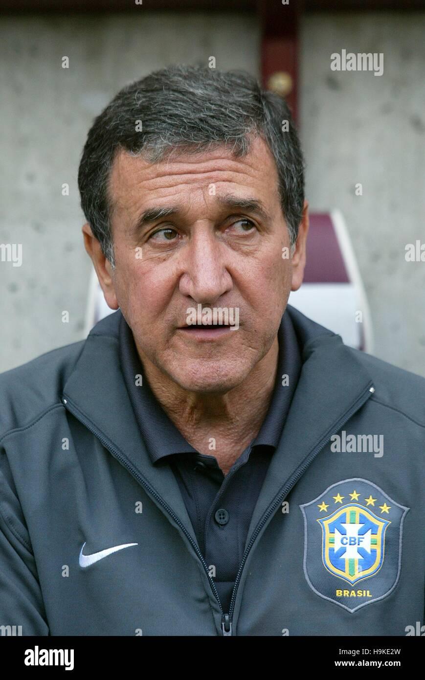 CARLOS ALBERTO PARREIRA BRAZIL COACH STADE DE GENEVA GENEVA Stock