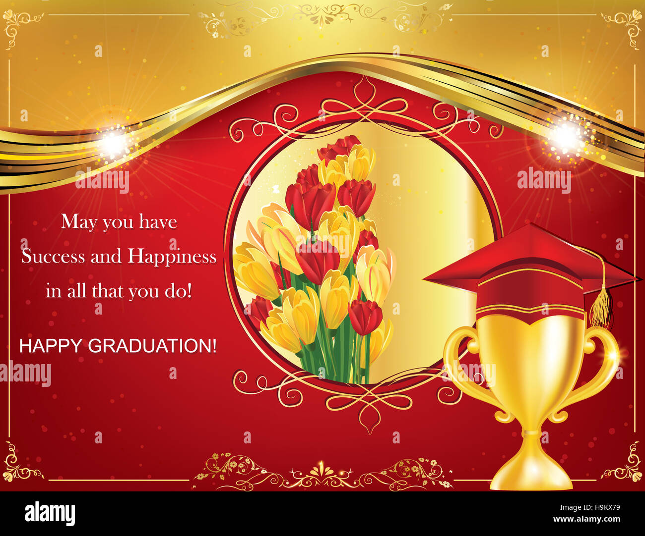 Happy graduation greeting card print colors used stock photo happy graduation greeting card print colors used kristyandbryce Choice Image
