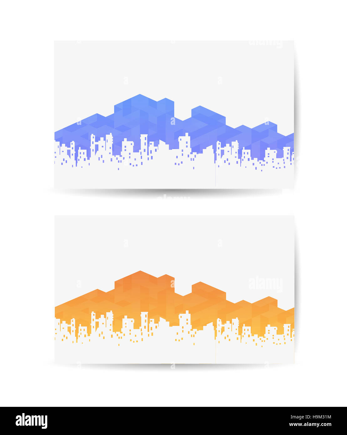 Business card with the urban landscape for real estate agencies or ...